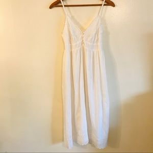 Joie White Embroidered Dress